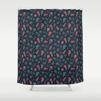 office Shower Curtains featuring Office plankton by Victoria Sochivko