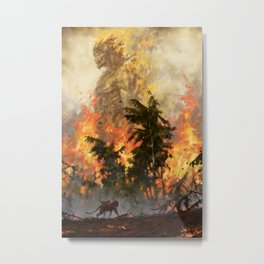The fire demon of the rainforests Metal Print
