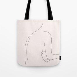 Nude figure illustration - Molly I Tote Bag