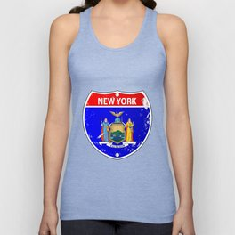 New York Flag Icons As Interstate Sign Unisex Tank Top
