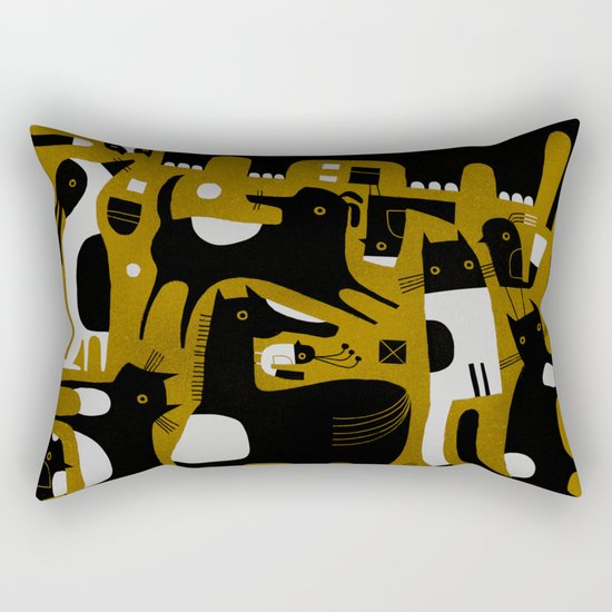 ANIMAL PATTERN BROWN Rectangular Pillow