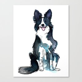 Indigo - Dog Watercolour Canvas Print