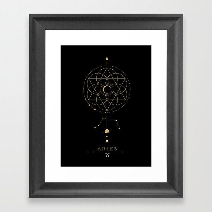 Aries Zodiac Constellation Gerahmter Kunstdruck