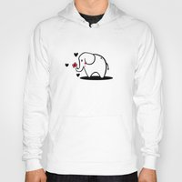 baby elephant Hoodies featuring Baby Elephant by TheMadKey