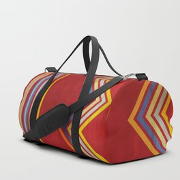 Stripes and Chevrons Ethic Pattern Duffle Bag