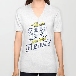Rushmore T-shirt Quote Unisex V-Neck