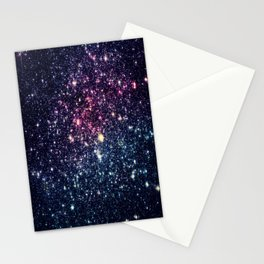 Galaxy Stars : Subtle Purple Mauve Pink Teal Stationery Cards