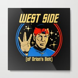 West Side - Spock Metal Print