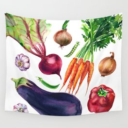 vegetables watercolor Wall Tapestry