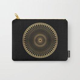 DEEM bright warm gold mandala on black Carry-All Pouch