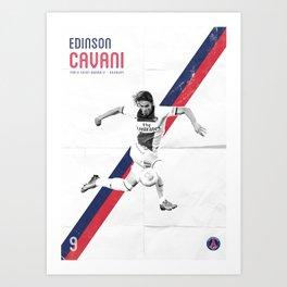 Edinson Cavani Poster Art Print