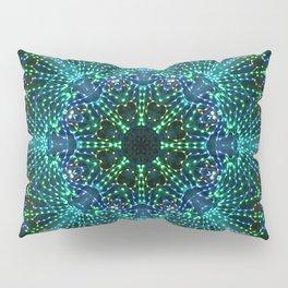 Kaleidoscope fantasy on lighted peacock shape Pillow Sham