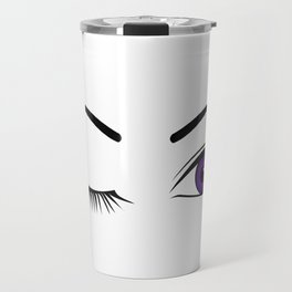 Violet Wink (Left Eye Open) Travel Mug