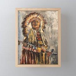Sitting Bull Framed Mini Art Print
