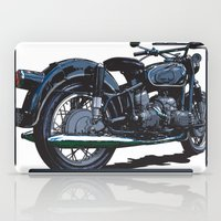 bmw iPad Cases featuring BMW R50 MOTORCYCLE by Ernie Young