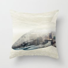 Sharks of New York Throw Pillow