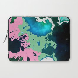 winter swimming pond reflecting in moonlight. Laptop Sleeve