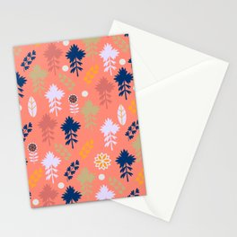 Peach floral decor Stationery Cards
