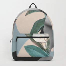 Floral Portrait /collage Backpack