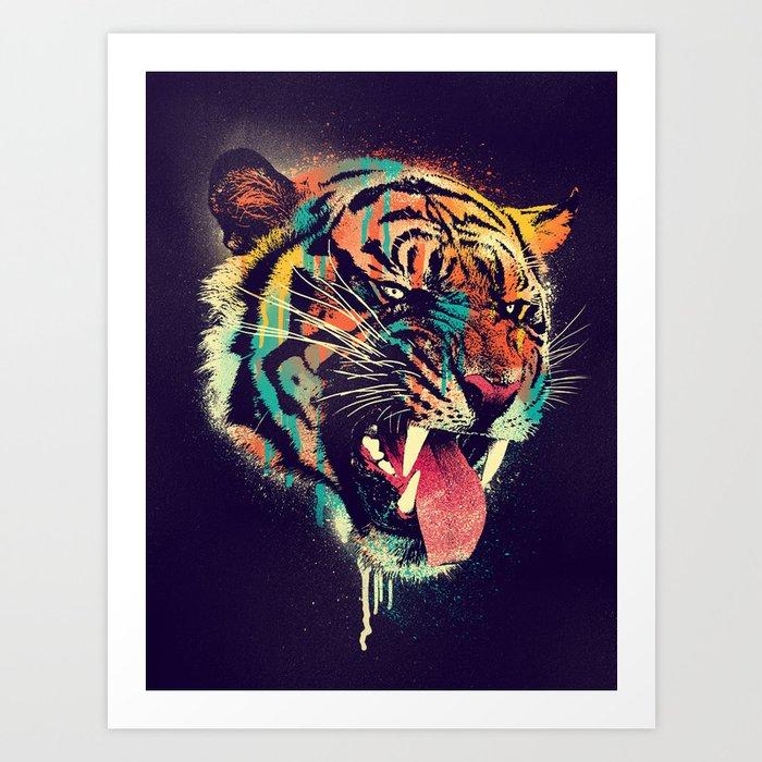 FEROCIOUS TIGER Art Print