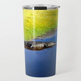 Relaxing Alligator Travel Mug