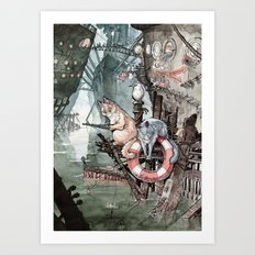 Shipcatville Art Print