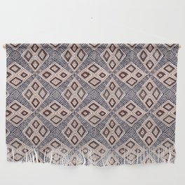 Boho African | Earth Tones Diamonds Mud Cloth Style Wall Hanging
