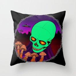 Death trip Throw Pillow
