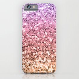 Pastel Mermaid Glitters Sparkling Cute Girly Background Gold Pink iPhone Case