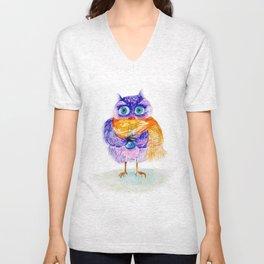 The little owl Cosette Unisex V-Neck