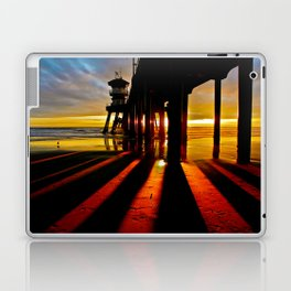 Surf City Sunsets ~ Dark Shadows HB Pier 1 Laptop & iPad Skin