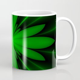 Neon Green Flower Fractal Coffee Mug
