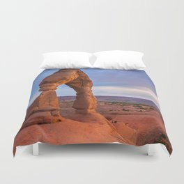 Golden Arch - Delicate Arch at Sunset in Utah Duvet Cover