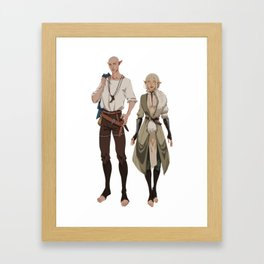 Style swap Framed Art Print