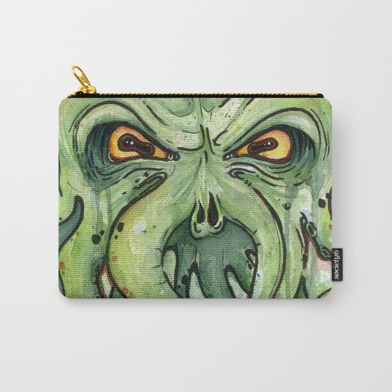 Cthulhu HP Lovecraft Green Monster Tentacles Carry-All Pouch