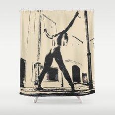 Pain is her Freedom - erotic nude, dark BDSM, bondage artwork, sexy slave girl tied Shower Curtain