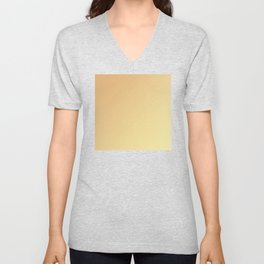 Pale Orange and Soft Yellow Gradient Unisex V-Neck