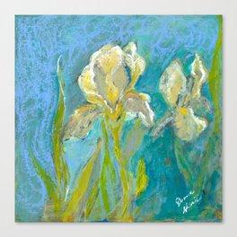 Yellow Irises Canvas Print