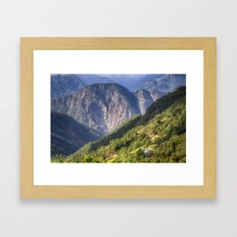 High in the Mountains - Himalayas of Bhutan Framed Art Print