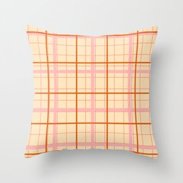 grid check layer_beige Throw Pillow