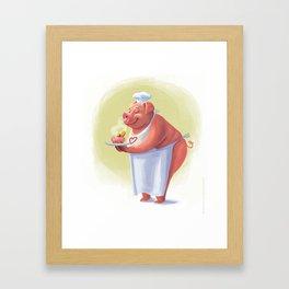 Pig Chef Framed Art Print