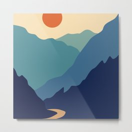 Mountains & River II Metal Print