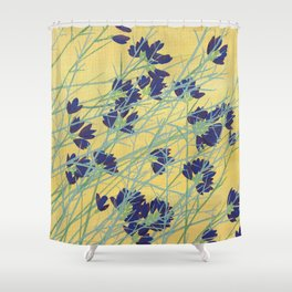 Smoke Tree Bloom Shower Curtain