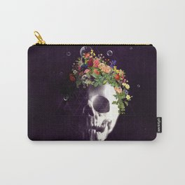 Skull with flowers no1 Carry-All Pouch