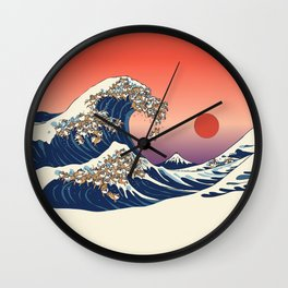 The Great Wave of Shiba Inu Wall Clock