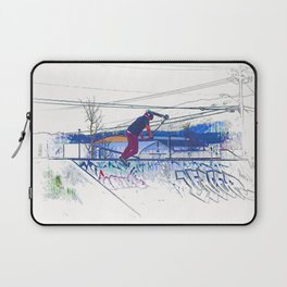 Spinning the Deck - Trick Scooter Sports Art Laptop Sleeve