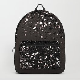 Blush Gray Black Lady Glitter #2 #shiny #decor #art #society6 Backpack