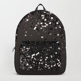 Blush Gray Black Lady Glitter #2 #shiny #decor #art #society6 Backpack