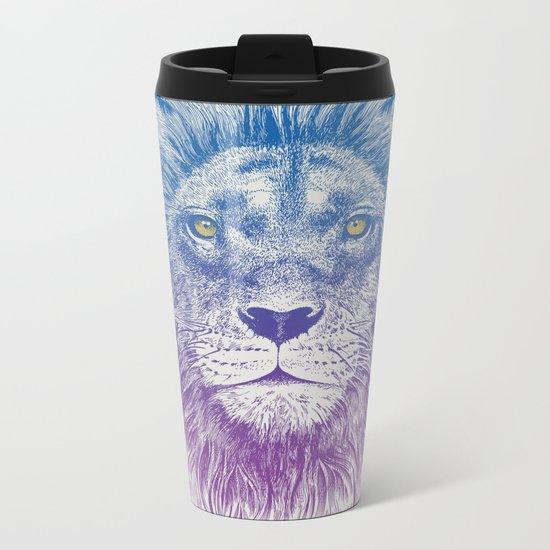 Face of a Lion Metal Travel Mug