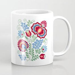 Moravian Folk Design Red Coffee Mug